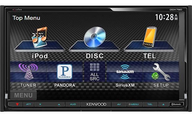 Kenwood Excelon DDX790 Front menu display