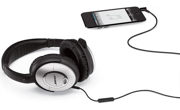 56a378bf590 Bose® QuietComfort® 15 Acoustic Noise Cancelling® headphones Connected to  an optional iPod touch
