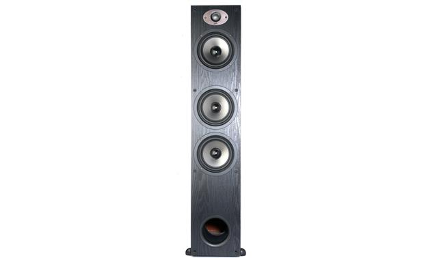 Polk Audio TSx440T Direct front view with grille removed (Black)