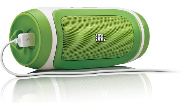 JBL Charge Green - shown with smartphone charging cable (not included)