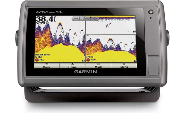 Garmin echoMAP 70s Fish arcs are easy to see