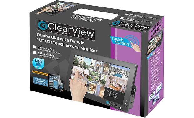 ClearView CBT-08 LCD Touchscreen DVR Combo In packaging