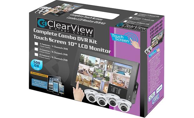 ClearView CBT-08-4D LCD Combo DVR Kit In packaging