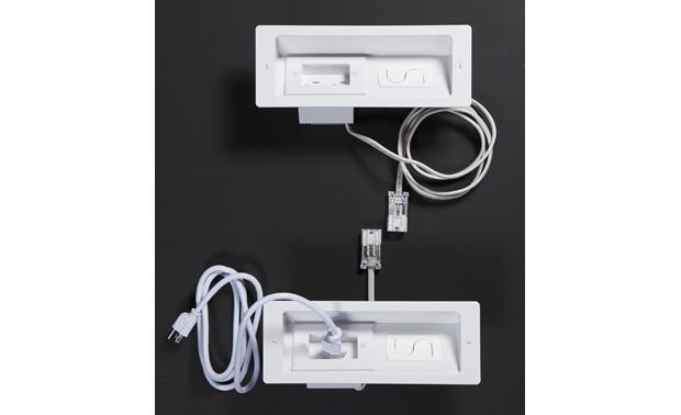 Sanus ELM806 PowerBridge® Both panels shown with in-wall connecting cable