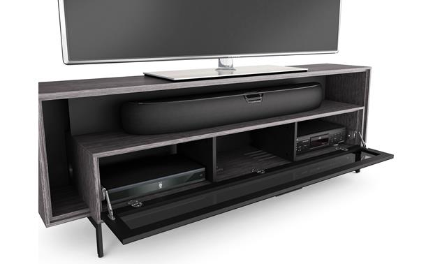 BDI Cavo™ 8167 Graphite - with door open (TV and components not included)