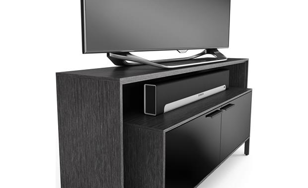 BDI Cavo™ 8168 Graphite - Inset cabinet detail (TV and components not included)