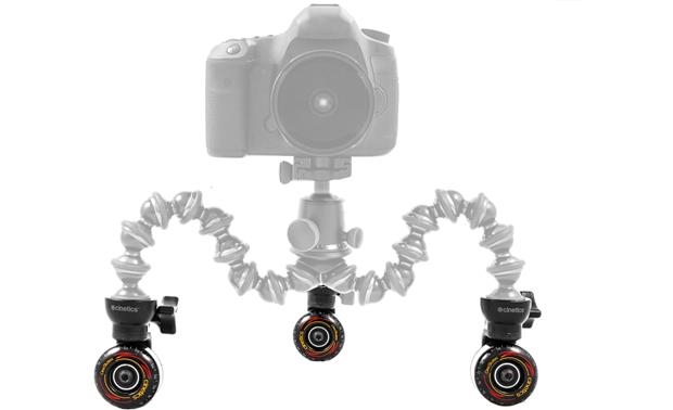 Cinetics CineSkates Front (tripod, ballhead, and camera not included)