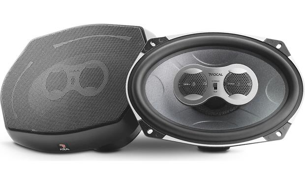 Focal Performance PC 710 Speakers with and without grille