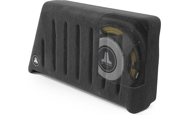 JL Audio Stealthbox® Stealthbox with cutaway view of subwoofer