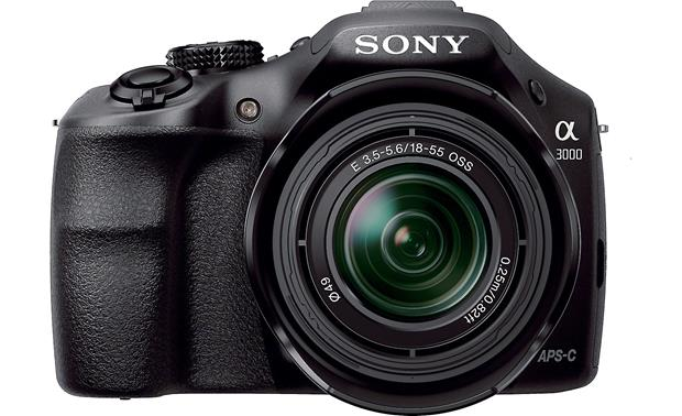 Sony Alpha a3000 Kit Front, straight-on