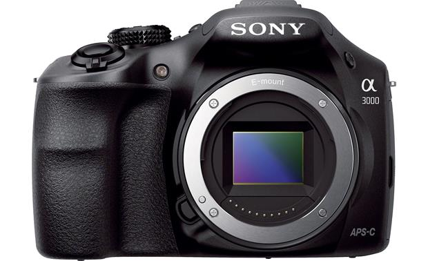 Sony Alpha a3000 Kit Front, straight-on, (body only)