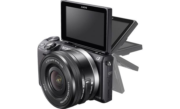 Sony Alpha NEX-5T 3X Zoom Lens Kit The LCD screen rotates 180-degrees for easy self-portraits