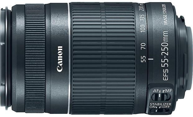 Canon EF-S 55-250mm f/4-5.6 IS STM Top view