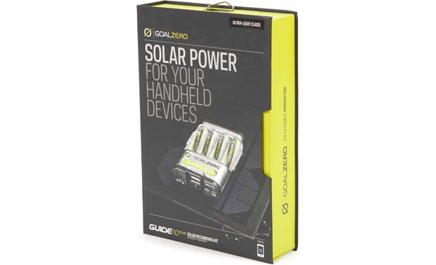 Goal Zero Guide 10 Plus Solar Recharging Kit Kit packaging - front