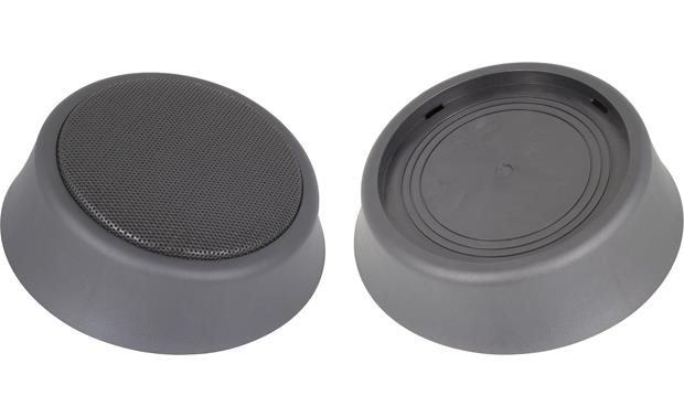 RetroSound RPOD6 Speaker pods with and without included grilles