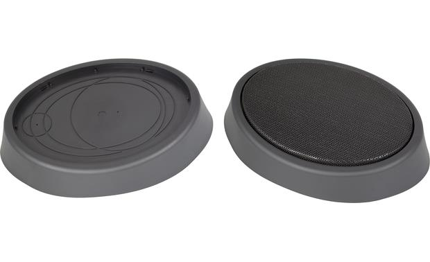 RetroSound RPOD9 Speaker pods with and without included grilles