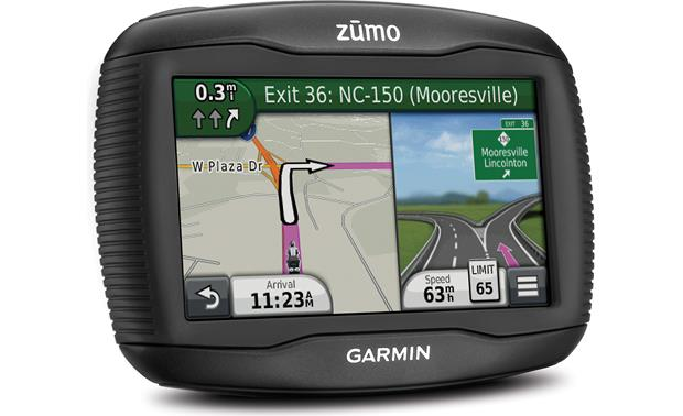 Garmin zūmo® 390LM Lane guidance with highway signs keeps you on track