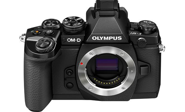 Olympus OM-D E-M1 (no lens included) Front, higher angle