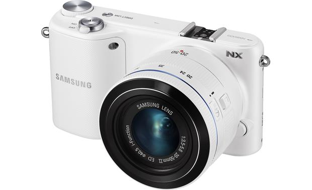 Samsung NX2000 Smart Camera with 2.5X Zoom Lens Kit Front (White)