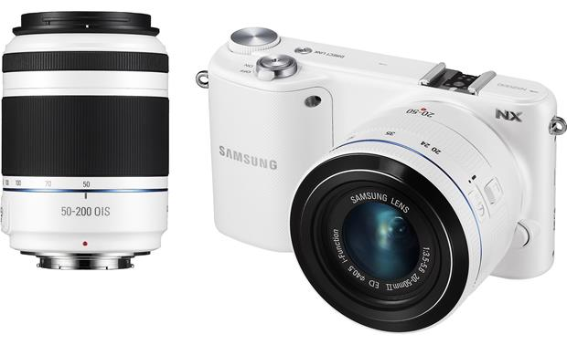Samsung NX2000 Smart Camera Two Lens Kit Front (White)