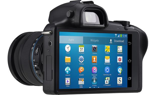 Samsung Galaxy NX-GN120 3/4 view, from rear left