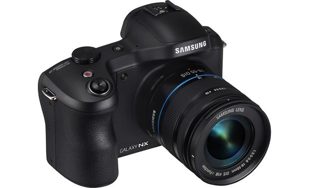 Samsung Galaxy NX-GN120 3/4 view from left