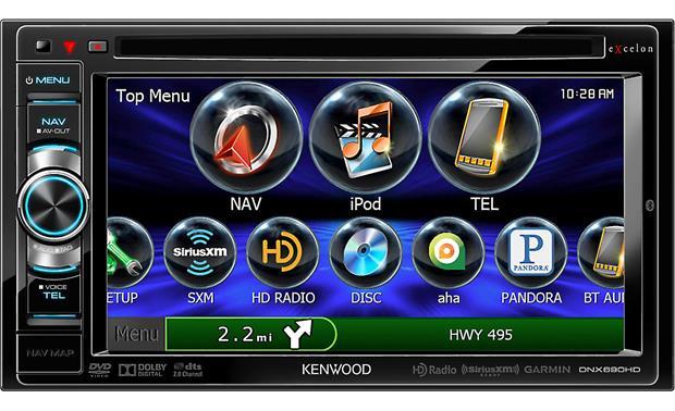 kenwood excelon dnx690hd navigation receiver at crutchfield com ge wiring diagram kenwood excelon dnx690hd front