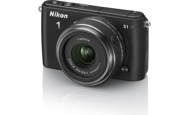 Nikon 1 S1 with Low-profile 2.5X Zoom Lens Front (Black)