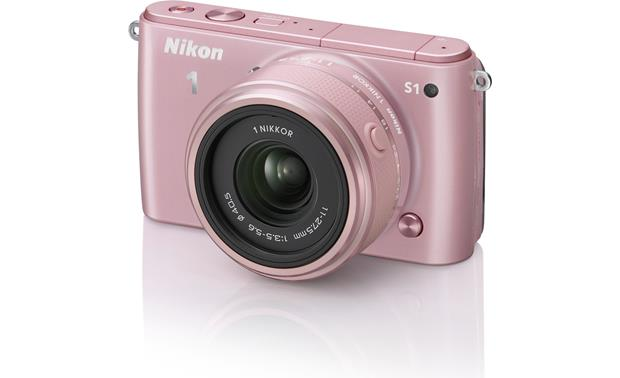 Nikon 1 S1 with Low-profile 2.5X Zoom Lens Front (Pink)