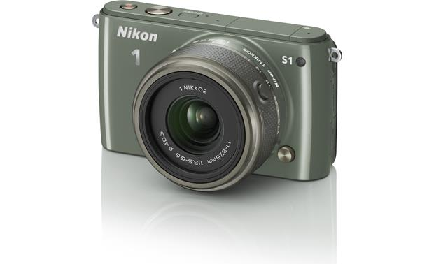 Nikon 1 S1 with Low-profile 2.5X Zoom Lens Front (Khaki)