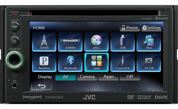 jvc kw av61bt dvd receiver at crutchfield com jvc kw av61bt front