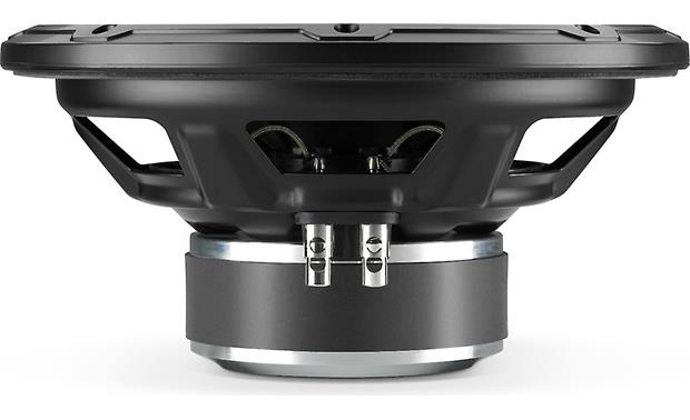 JL Audio 10W1v3-4 Side view exposing quality spring-loaded speaker terminals
