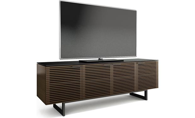 BDI Corridor 8179 Chocolate Stained Walnut - left front view (TV not included)