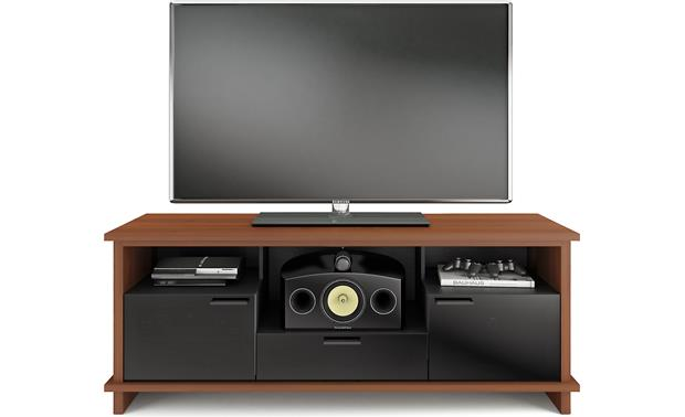 BDI Braden 8828 Cherry with center shelf panel removed (TV and components not included)