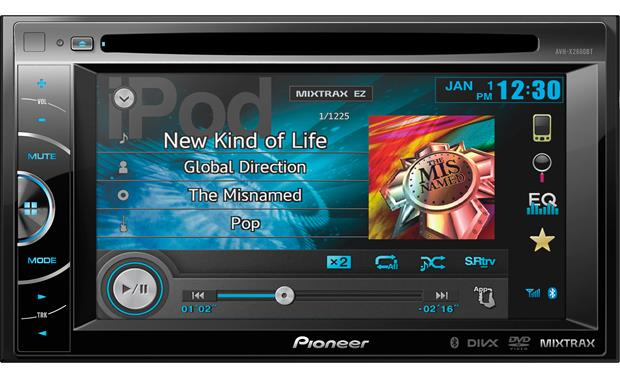 Pioneer Avh X2600bt Dvd Receiver At Crutchfield