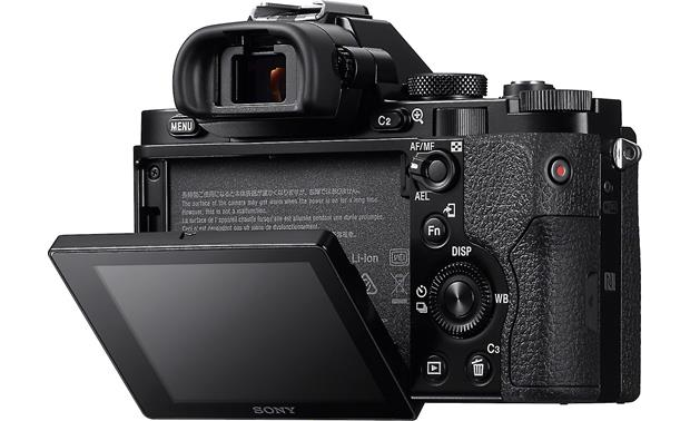 Sony Alpha a7 Kit The rear LCD tilts up and down
