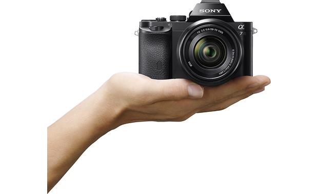 Sony Alpha a7 Kit Shown in hand for scale