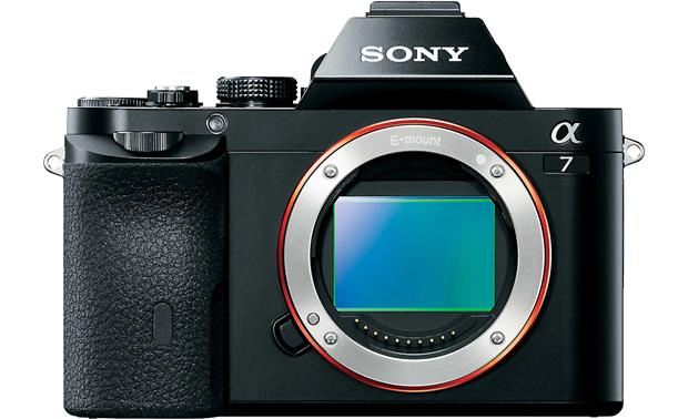 Sony Alpha a7 Kit Front, straight-on (body only)