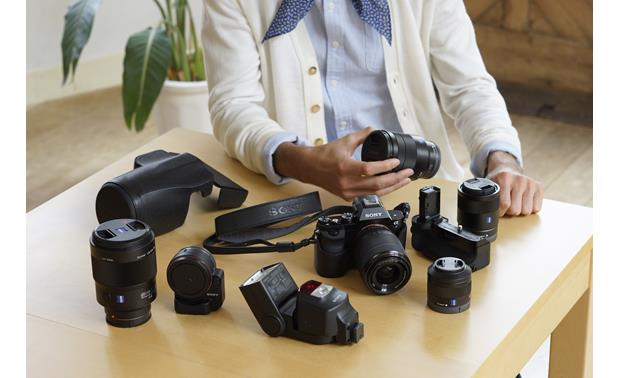 Sony Alpha a7 Kit The a7 with some of its family of companion accessories, available separately