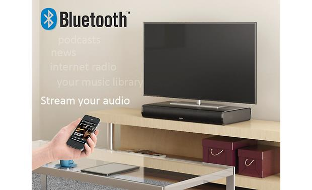 Onkyo LS-T10 Bluetooth compatibility lets you stream music and podcasts from your smartphone