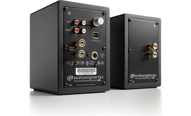 Audioengine A2+/Audio-Technica AT-LP120BK-USB Bundle The Audioengine A2+ speakers have multiple inputs and outputs, so you can make the necessary connections