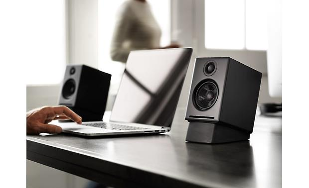 Audioengine A2+ Shown with optional Audioengine DS1 desktop stands