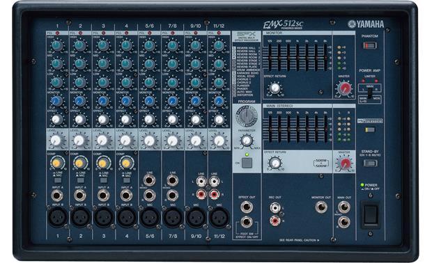yamaha emx512sc 12 channel 500 watt x 2 powered mixer with on board rh crutchfield com Yamaha EMX 312 Yamaha EMX66M