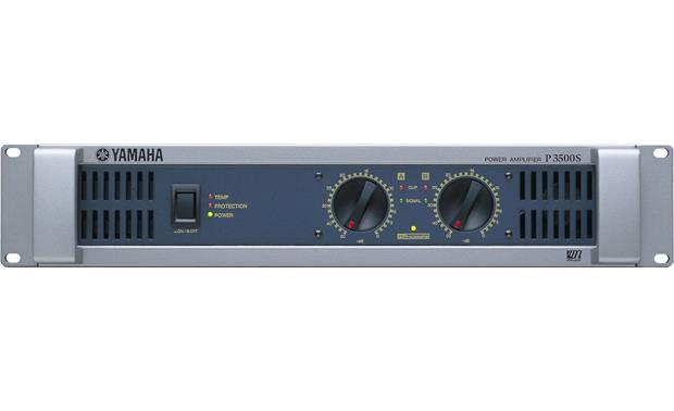 Yamaha P3500S The front panel includes gain controls for each channel, protection indicators, and the power switch