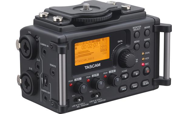 Tascam DR-60D Front view, from left