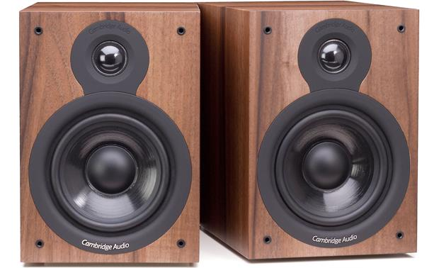 Cambridge Audio SX-50 Shown with grilles removed (Dark Walnut)