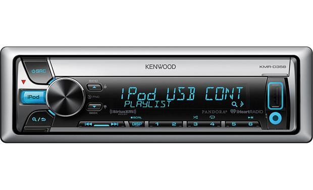 kenwood kmr d358 marine cd receiver at crutchfield com rh crutchfield com Kenwood Radio Wiring Back Kenwood KDC 152 Wiring-Diagram