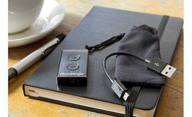 Cambridge Audio DAC Magic XS Shown with included USB cable adapter and carry pouch