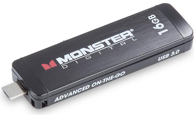 Monster Digital Advanced On-the-go Flash Drive Top, micro USB connector extended
