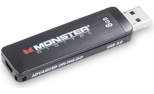 Monster Digital Advanced On-the-go Flash Drive Top, Type A USB connector extended